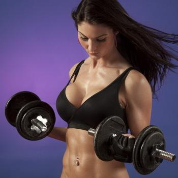 Attractive Woman Working Out